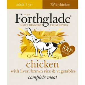 Forthglade Complete Chicken & Liver Adult Dog Food 395g x 18