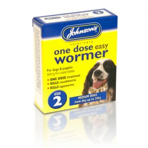 Johnsons Veterinary One Dose Wormer Size 2