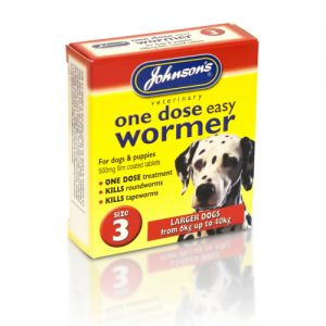 Johnsons Veterinary One Dose Wormer Size 3