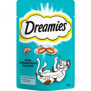 Dreamies Cat Treats with Scrumptious Salmon