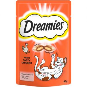 Dreamies Cat Treats with Tasty Chicken