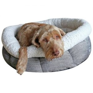 Rosewood Deep Tweed Oval Teddy Bear Dog Bed (27 inch)