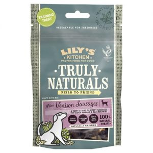 Lilys Kitchen Truly Naturals Mini Venison Sausages Dog Treats