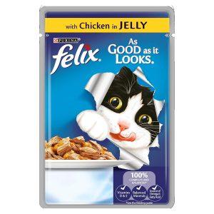Felix As Good As It Looks Chicken Cat Food in Jelly