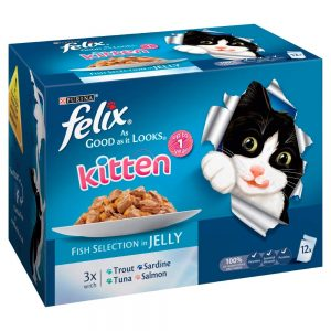 Felix As Good As It Looks Fish Selection Kitten Food in Jelly
