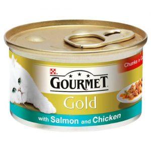 Gourmet Gold Salmon & Chicken in Gravy Cat Food
