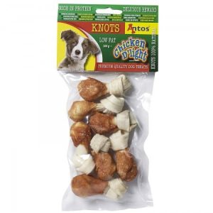 Antos Chicken D'Light Knots Dog Treats