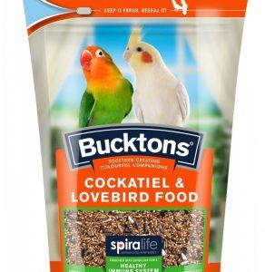 Bucktons Cockatiel & Lovebird Food with Spiralife
