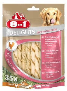 8in1 Delights Pork Twist Sticks (35 Sticks)
