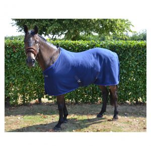 Navy/Blue Hy Signature Fleece Rug (4 Foot 9 Inch)