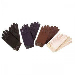 Navy Hy5 Cotton Pimple Palm Gloves (Medium)