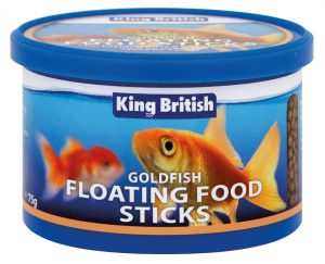 King British Goldfish Floating Food Sticks (75g Tub)