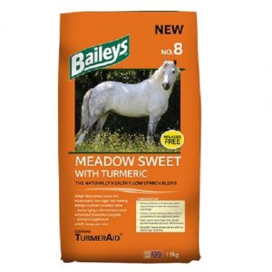Baileys No.8 Meadow Sweet with Turmeric | Size: 15kg | Horse Food