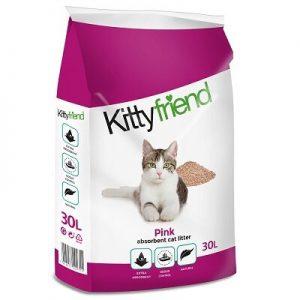Kitty Friend Pink Cat Litter (30 Litre)