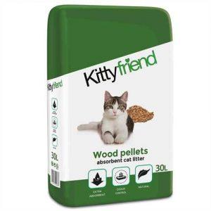 Kitty Friend Wood Pellets Cat Litter (30 Litre)